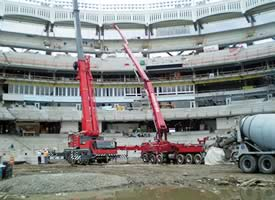 Pouring Concrete at Yankee Stadium