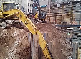 dirt excavation in Queens, NY