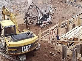 Deep Excavation New York City