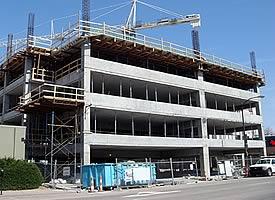 Poured Concrete at New Construction Site