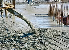 Reinforced Concrete being Poured